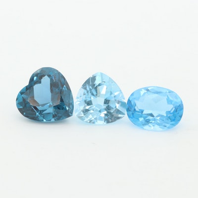 Loose 6.37 CTW Blue Topaz and Spinel Gemstones