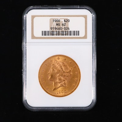 NGC Graded MS62 1900 Liberty Head Gold Double Eagle