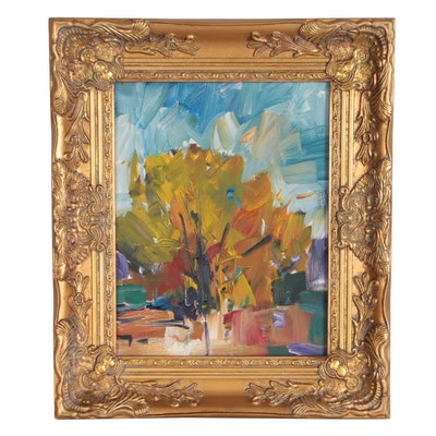 "Jose Trujillo Oil Painting ""Palo Verde Morning"""