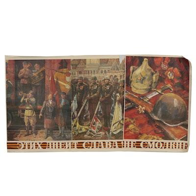 Russian Triptych Posters after Konstantin Mikhailovich Antonov.