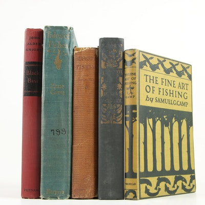 "Fishing Books featuring ""The Fine Art of Fishing"" by Samuel G. Camp, 1923"