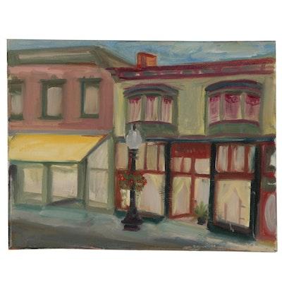 Rebecca Sharfman Cityscape Oil Painting
