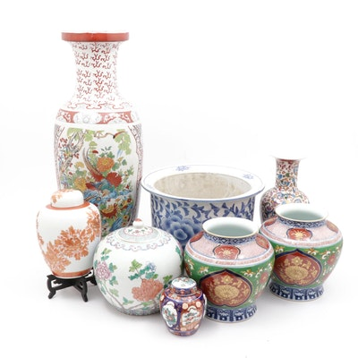 Chinese Lidded Jar, Planter, and Vase Collection