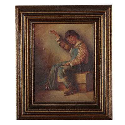 G. Lorandi Oil Portrait of Boy