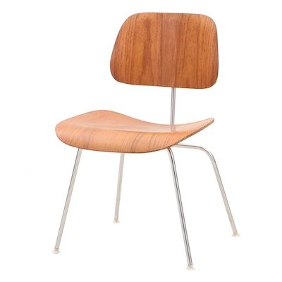Charles and Ray Eames for Herman Miller Laminated Walnut DCM Side Chair, 1964