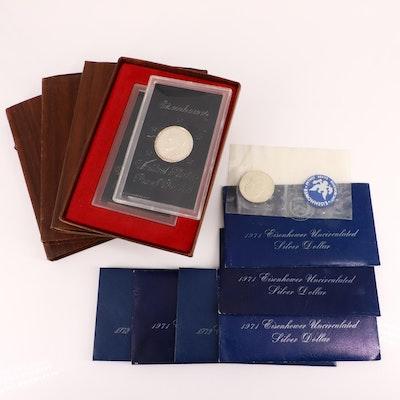 Twelve Silver Clad Eisenhower Dollars