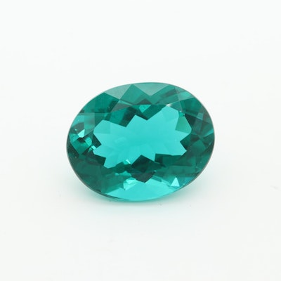 Loose Oval Faceted Glass Gemstone