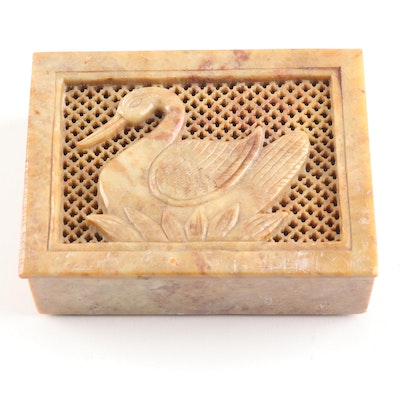 Indian Handcrafted Stone Trinket Box