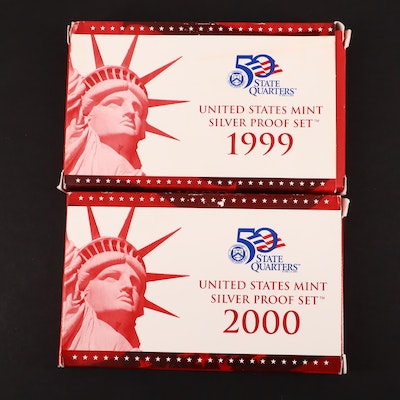 1999 and 2000 United States Mint Silver Proof Sets