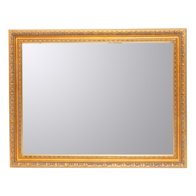 Neoclassical Style Gilt Bevel Wall Mirror