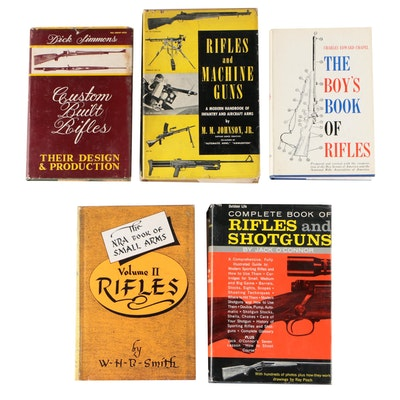 "Firearms Books including ""Rifles and Machine Guns"" by M. M. Johnson Jr."