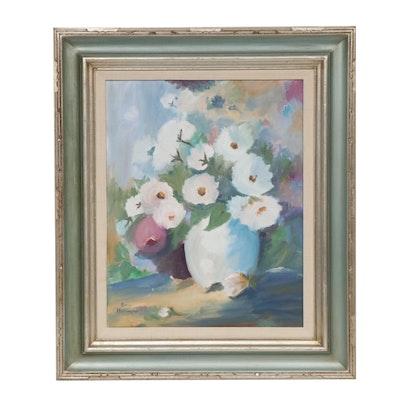 Doris Harrington Still Life of Flowers Oil Painting