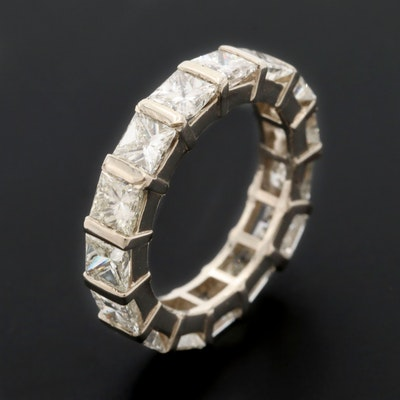14K White Gold 3.82 CTW Diamond Eternity Band