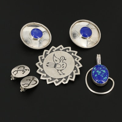 Southwestern Style Sterling Silver Jewelry Including Bell Trading Company