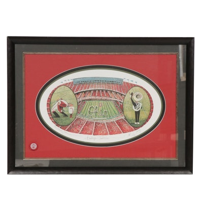 "P. Buckley Moss Offset Lithograph ""Buckeye Tradition"""