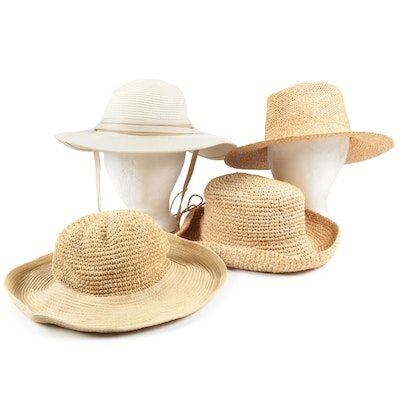 Summer Straw Hats Including Helen Welsh, Scala and Köppen