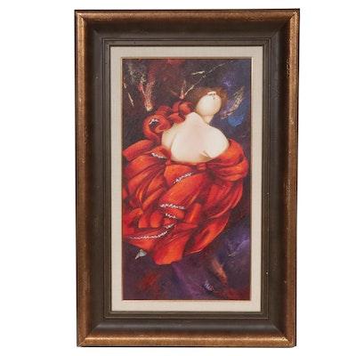 """Teté Marella Acrylic and Oil Painting """"Te Lo Diré de Espaldas"""""""