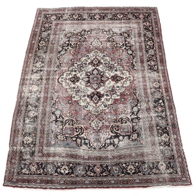 Hand-Knotted Persian Kerman Wool Rug