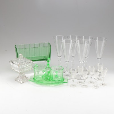 Vintage and Depression Glassware and Stemware Featuring Heisey