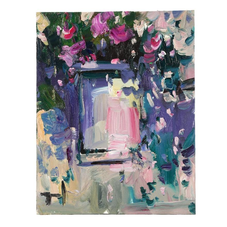 "Jose Trujillo Oil Painting ""The Window"""