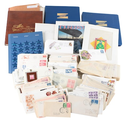 Collection of U.S. Postal Covers and Commemorative Stamp Books