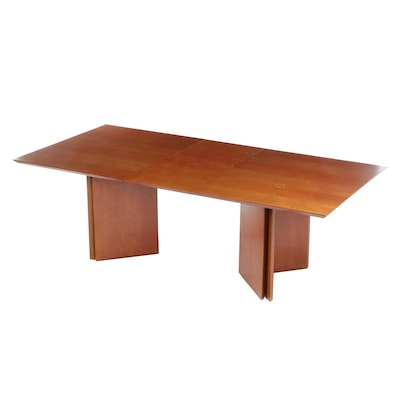 Modern Birdseye Maple Veneered Dining Table, Late 20th Century