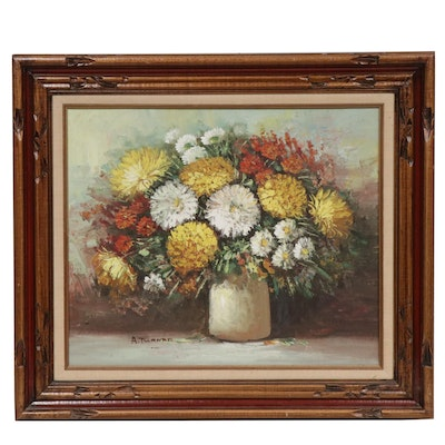 A. Turner Impasto Floral Still Life Oil Painting