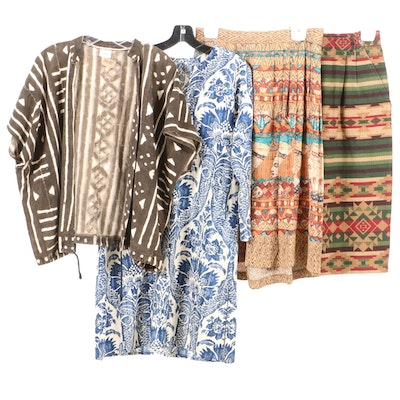 Ann Maurice Handmade Mud Cloth Jacket and Other Clothing Separates