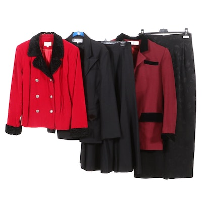 Henri Bendel New York Double-Breasted Velvet Jacket and Other Clothing Separates