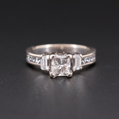 18K White Gold 1.37 CTW Diamond Ring