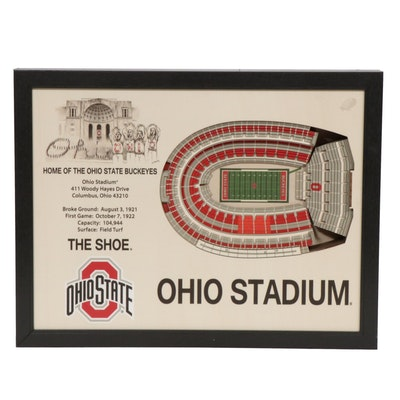 "Stadium Views Ohio State University ""The Shoe"" 3D-Model Wall Hanging"