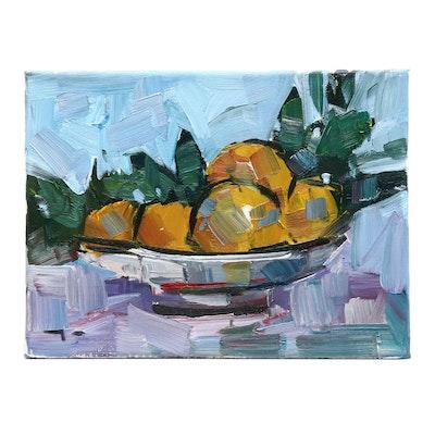 "Jose Trujillo Oil Painting ""Lemons"""