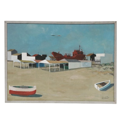 Jose Hernandez Calatayud Beach Landscape Oil Painting