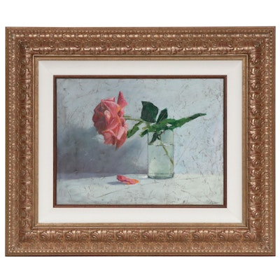 Still Life Oil Painting of Rose