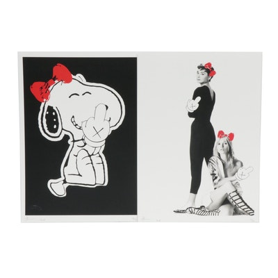 Death NYC Graphic Prints of Audrey Hepburn, Kate Moss and Snoopy