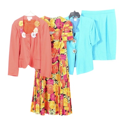 Nadir Floral Dress, Carré Skirt Suit and Déja Vu Jacket