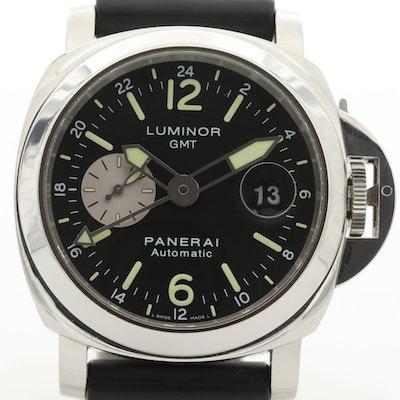 Panerai Luminor GMT PAM88 Stainless Steel Automatic Wristwatch