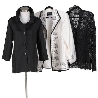 Dana Buchman Lace Shirt Set with Simonton Says and Jolie Jackets