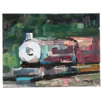 "Jose Trujillo Oil Painting ""The Train"""