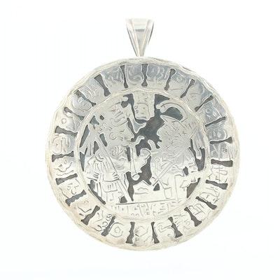 Guatemalan 900 Silver Converter Brooch