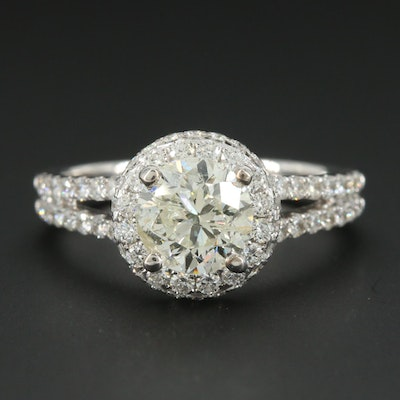 18K White Gold 2.08 CTW Diamond Ring