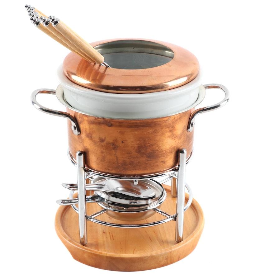 Contemporary Williams-Sonoma Fondu Pot Designed by Ruffoni