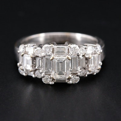 18K White Gold 1.63 CTW Diamond Ring