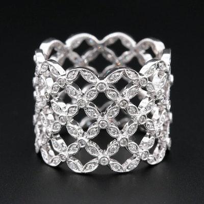 Beverly K 18K White Gold 1.09 CTW Diamond Eternity Ring