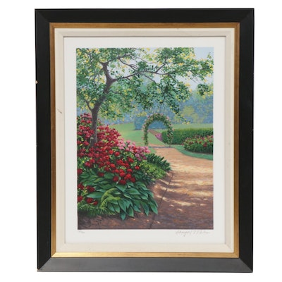 Kevin Miles and Wendy Schaefer-Miles Garden Path Serigraph