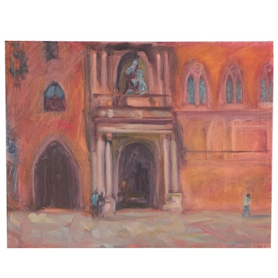 Gabriel Boray Oil Painting of Venetian Architectural Landscape