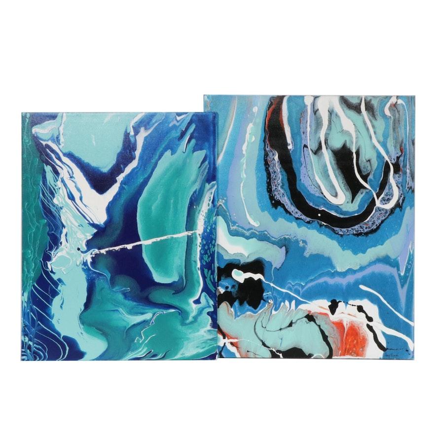 Amy Renée Moberger Abstract Acrylic Paintings