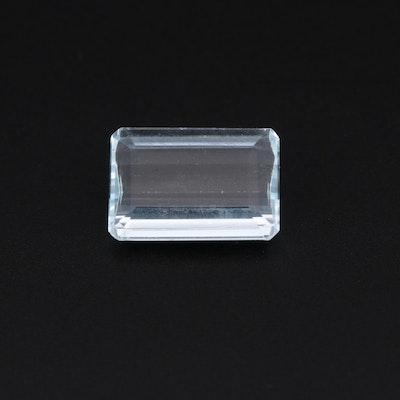 Loose 3.70 CT Aquamarine Gemstone
