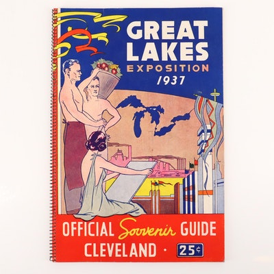 1937 Great Lakes Exposition in Cleveland Souvenir Booklet