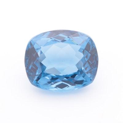 Loose 34.18 CT Blue Topaz Gemstone